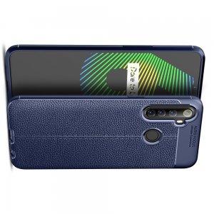 Leather Litchi силиконовый чехол накладка для Realme 6i - Синий