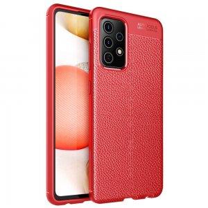 Leather Litchi силиконовый чехол накладка для Samsung Galaxy A52 - Красный