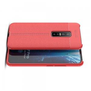 Leather Litchi силиконовый чехол накладка для vivo V17 Pro - Красный