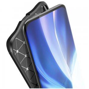 Leather Litchi силиконовый чехол накладка для Xiaomi Mi 11 - Черный