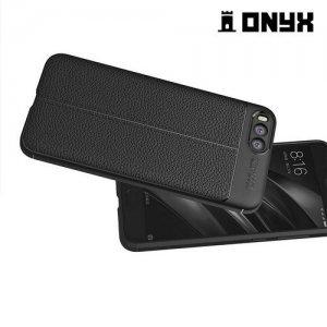 Leather Litchi силиконовый чехол накладка для Xiaomi Mi 6 - Черный