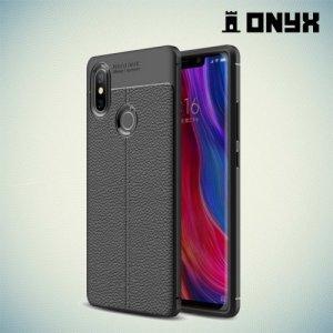 Leather Litchi силиконовый чехол накладка для Xiaomi Mi 8 SE - Черный
