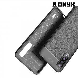 Leather Litchi силиконовый чехол накладка для Xiaomi Mi CC9 - Черный