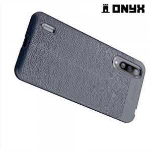 Leather Litchi силиконовый чехол накладка для Xiaomi Mi CC9 - Синий