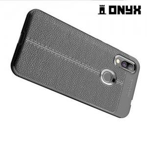 Leather Litchi силиконовый чехол накладка для Xiaomi Redmi 7 - Черный