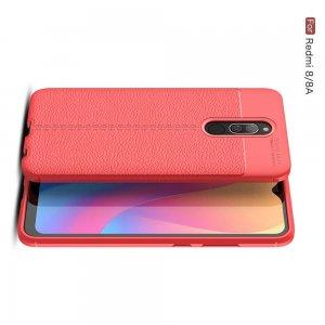 Leather Litchi силиконовый чехол накладка для Xiaomi Redmi 8A / Redmi 8 - Красный