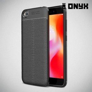 Leather Litchi силиконовый чехол накладка для Xiaomi Redmi Go - Черный