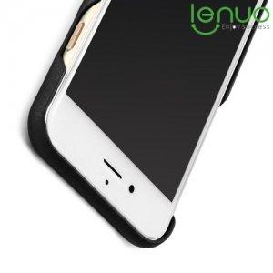 LENUO Чехол кейс обтянутый кожей для  iPhone 8/7 - Черный