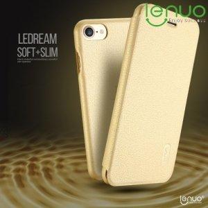 LENUO ультратонкий чехол книжка для iPhone 8/7 - Золотой