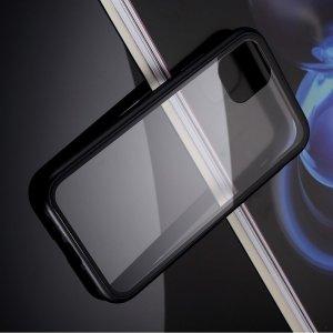 Магнитный Стеклянный Чехол с Металлическим Бампером для iPhone 11 Черный