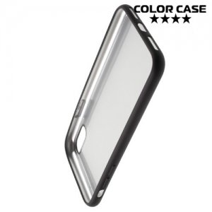 Матовый силиконовый чехол для iPhone Xs / X - Черный