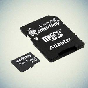 Карта памяти microSDHC SmartBuy 4Gb Class 4