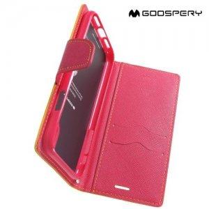 Mercury Goospery Горизонтальный чехол книжка для iPhone XR - Желтый