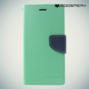 Mercury Goospery Горизонтальный чехол книжка для iPhone XR - Голубой