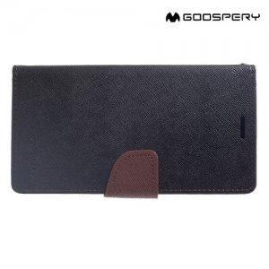 Mercury Goospery Горизонтальный чехол книжка для iPhone Xs Max - Черный