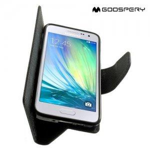 Mercury Goospery Горизонтальный чехол книжка для Samsung Galaxy A3 - Черный