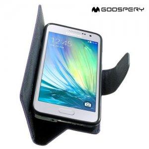Mercury Goospery Горизонтальный чехол книжка для Samsung Galaxy A3 - Фиолетовый