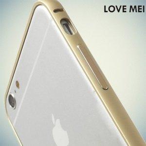 Металлический алюминиевый бампер для iPhone 6S / 6 - Золотой