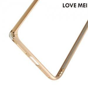 Металлический алюминиевый бампер для iPhone 8/7 - Золотой