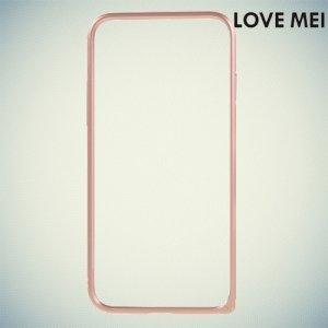Металлический алюминиевый бампер для iPhone 8/7 - Розовое золото