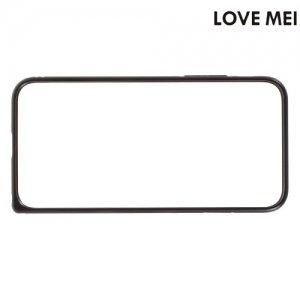 Металлический алюминиевый бампер для iPhone 8/7 - Черный