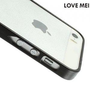 Металлический алюминиевый бампер для iPhone SE - Черный