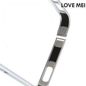 Металлический алюминиевый бампер для iPhone SE - Серебряный