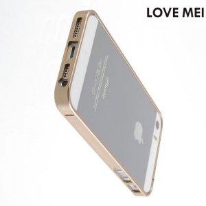 Металлический алюминиевый бампер для iPhone SE - Золотой