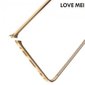 Металлический алюминиевый бампер для Samsung Galaxy S6 Edge Plus - Золотой