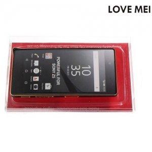 Металлический алюминиевый бампер для Sony Xperia Z5 - Черный с золотым