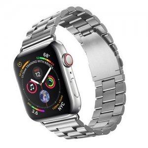Металлический браслет ремешок для Apple Watch 42-44mm 2/3/4 Series Серебряный