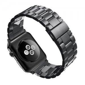 Металлический браслет ремешок для Apple Watch 42-44mm 2/3/4 Series Черный