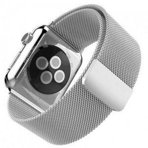 Миланский металлический ремешок для Apple Watch 42-44mm 2/3/4 Series Серебряный