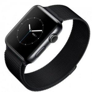 Миланский металлический ремешок для Apple Watch 42-44mm 2/3/4 Series Черный