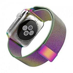 Миланский металлический ремешок для Apple Watch 42-44mm 2/3/4 Series Градиент