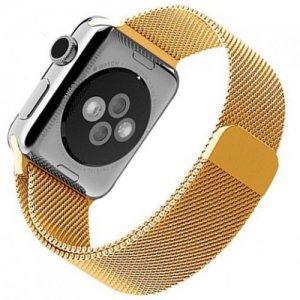 Миланский металлический ремешок для Apple Watch 42-44mm 2/3/4 Series Золотой
