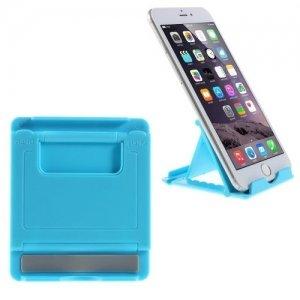 Многоугловая подставка для телефонов голубая