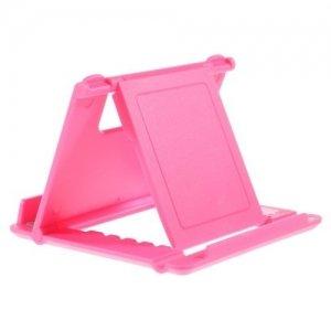 Многоугловая подставка для телефонов розовая