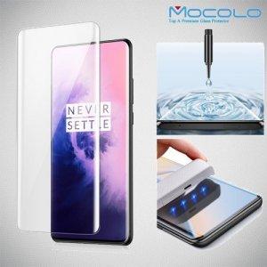 Изогнутое защитное 3D стекло для OnePlus 7T Pro / 7 Pro - Прозрачное
