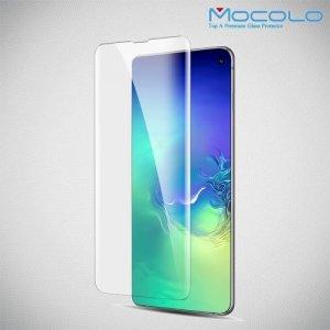 MOCOLO Изогнутое защитное 3D стекло для Samsung Galaxy S10 Plus - Прозрачное Жидкий Ультрафиолетовый Клей
