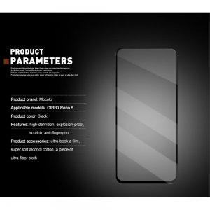 MOCOLO Защитное стекло для Oppo Reno 5 - Черное
