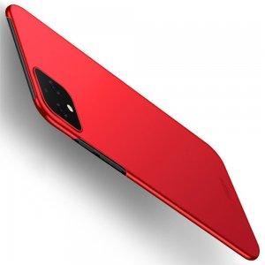 Mofi Slim Armor Матовый жесткий пластиковый чехол для Google Pixel 4 - Красный