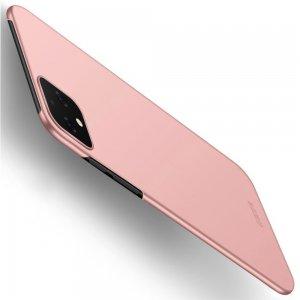 Mofi Slim Armor Матовый жесткий пластиковый чехол для Google Pixel 4 - Светло-Розовый