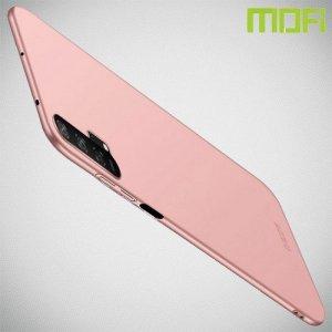 Mofi Slim Armor Матовый жесткий пластиковый чехол для Huawei Honor 20 Pro - Розовое Золото