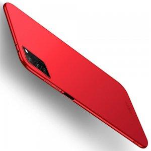 Mofi Slim Armor Матовый жесткий пластиковый чехол для Huawei Honor View 30 - Красный