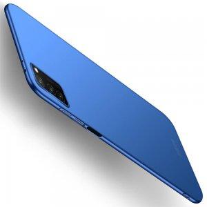 Mofi Slim Armor Матовый жесткий пластиковый чехол для Huawei Honor View 30 - Синий