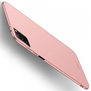 Mofi Slim Armor Матовый жесткий пластиковый чехол для Huawei Honor View 30 - Светло-Розовый