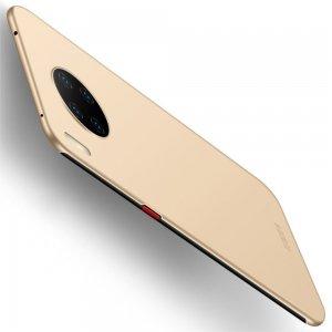Mofi Slim Armor Матовый жесткий пластиковый чехол для Huawei Mate 30 Pro - Золотой