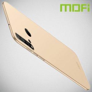 Mofi Slim Armor Матовый жесткий пластиковый чехол для Huawei P20 lite (2019) / nova 5i - Золотой