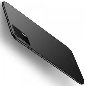 Mofi Slim Armor Матовый жесткий пластиковый чехол для Huawei P40 - Черный